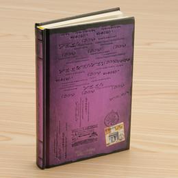 Cuaderno morado online-PURPLE - Retro Vintage Cuaderno Diario Diario Sketchbook Tapa dura Grueso En blanco