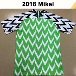 Equipos de camiseta de fútbol verde online-2018 camisetas de fútbol de la Copa del Mundo OKECHUKWU IHEANACHO Home Green Camisetas de fútbol para hombre Equipo nacional AHMED MUSA MIKEL Uniformes de Tailandia