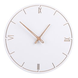 Horloges murales à la mode en Ligne-Style nordique À La Mode Simple Silencieux Horloges Muralesfor Home Decor Pur Blanc Type Horloge Murale À Quartz Design Moderne Minuterie ZJ0465