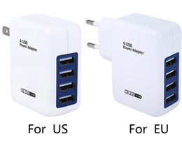 UE EE. UU. Enchufe 4 puertos Adaptador de cargador USB 5V 3.1A Cargador de pared USB HUB de carga rápida para iPhone / iPad para Samsung / Xiaomi desde fabricantes