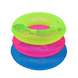 Nuoto anelli tubi online-70 cm 90 cm unisex fluorescente gonfiabile nuotata anello nuoto pneumatico tubo piscina galleggiante piscina aiuti nuoto sport acquatici all'aperto strumenti