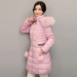 Меховой воротник жакет тонкий талия онлайн-Winter Fashion Women Warm Parkas Long Sleeve Fur Hooded Collar Waist Thicker Coats Slim Lady Solid Color Cotton Coat Jacket