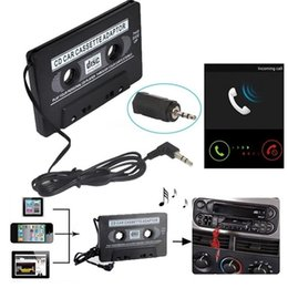 cassette tape mp3 converter Promo Codes - 3.5mm Jack Car AUX Cassette Tape Adapter Audio MP3 CD Phone Radio Converter