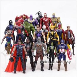 signore squilli cifre Sconti Infinity War Marvel Super Hero Toy Iron Man Capitan America Hulk Tynos Spider-Man Azione Figurine Set collezione di giocattoli