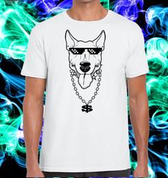 Эксклюзивная страсть бультерьер собака с очки бандит и ожерелье 2019 мода мода мужчины футболки с принтом на заказ дизайн рубашки от