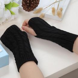2019 medio dedo guantes manga larga Guantes de lana negros, manga larga, medio dedo guantes de invierno, guantes de punto para la venta rebajas medio dedo guantes manga larga