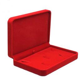 2020 materiali di imballaggio dei monili 1PC multicolore Tre pezzi di gioielli visualizzazione della casella Packaging Rettangolo Confezioni Regalo anello della collana dell'orecchino flanella Materiali QLY9795 sconti materiali di imballaggio dei monili