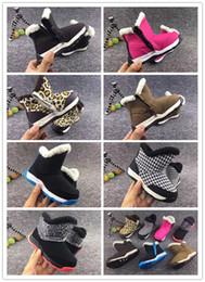 18edf59011912 HOT vendre Marque Enfants Chaussures Filles Bottes Hiver Chaud Cheville  Toddler Garçons Bottes Chaussures Enfants Bottes De Neige En Peluche  Chaussures ...