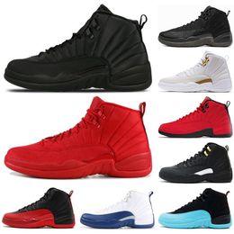 best service bcb77 316e1 Nike air jordan 12 12s Nouveau Chaussures de basket-ball 12 12s pour hommes  Sneakers pour l hiver - Gymnase rouge Taxi FLU GAME Gris foncé 12s  chaussures de ...
