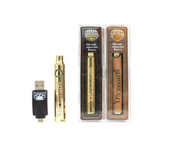 Hölzerne vape-stifte online-BK Batterie Brass Knuckles Akku 650mAh 900mAh Gold-Holz-Variable Voltage Vape Feder für 510 Dickes Öl Cartridges