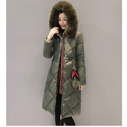 xl hair Promo Codes - Winter jacket women new knee long section cottonlarge size thick warm big hair collar hair ball parka down cotton coat women