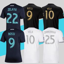2019 camisas azul marino 2019 LAFC Parley Azul marino Camisetas de fútbol Camiseta de fútbol de local Los Angeles FC MLS ROSSI VELA Más 10pcs Envío de DHL gratis camisas azul marino baratos