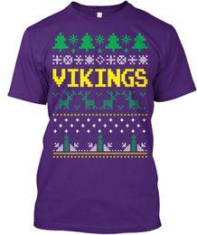 2019 vikings t-shirt Vikings Ugly Christmas Sweater T-shirt populaire sans étiquette vikings t-shirt pas cher