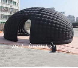 Şişme çadır İç hava üfleyici İçinde yüksek kalite siyah Şişme kubbe çadır blower reklam sergi ile olay için nereden büyük beyaz balon tedarikçiler