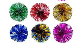 pom poms Cheerleading 50g Cheering pompom Metálico Pom Pom Cheerleading produtos muitas cores para sua escolha de