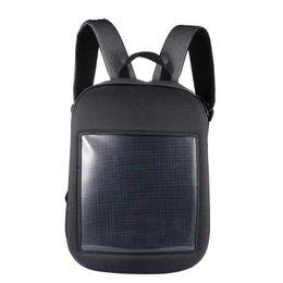 Mochila dinámica 64x64 Pantalla matricial a todo color GPRS WIFI LED Bolsa de viaje Mochila de viaje Publicidad Bolsa de hombro desde fabricantes