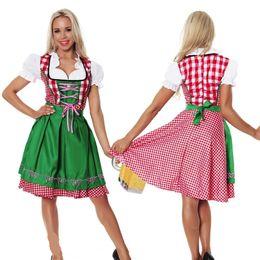 trajes femininos para o dia das bruxas Desconto 5 Pçs / lote Trajes de Halloween Para As Mulheres Oktoberfest Traje Octoberfest Empregada Doméstica Traje Do Partido Feminino Oktoberfest Vestido Traje De Cerveja