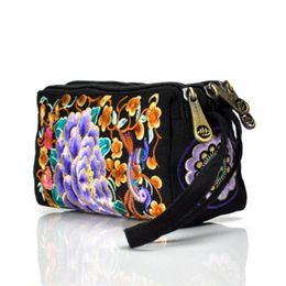 2019 chinese bordado bolsas O estilo nacional chinês mão-bordou o saco caracteriza a bolsa portátil das senhoras do bordado da lona chinese bordado bolsas barato