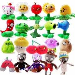 Plantas vs juegos de juguetes zombie online-Nuevos 20pcs / set Moda Plants vs Zombies preciosas Plushstuffed Juegos Juguetes populares regalos Pvz caliente muñeca creativa de cumpleaños para niños Y19070103
