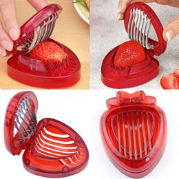 2019 fragole di plastica Utensili da cucina in acciaio inox Utensili da cucina in plastica Utensili da intaglio per frutta in plastica Utensili da cucina in acciaio inox WX9-1275 fragole di plastica economici
