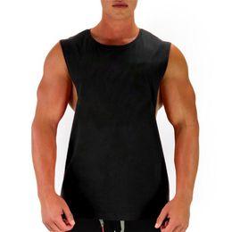 493a75bbb500f Nouveau Blank shirt sans manches Muscle Cut Workout Shirt Bodybuilding Débardeur  Homme Fitness Vêtements coton côtés ouverts gilet # 321530 cheap sleeveless  ...