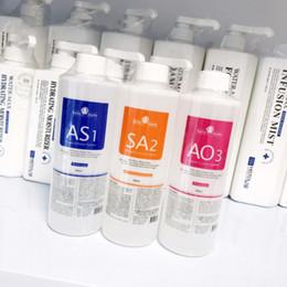 Soluções de peles on-line-Máquina hydrafacial profissional uso aqua peeling solução 400 ml por garrafa aqua facial soro facial Hydra facial para a pele normal CE / DHL