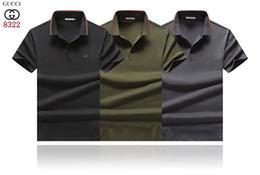 marchio di marca di polo Sconti HOT Fashion Bees Logo GC Polo da uomo Polo GG0008 Italia famoso Designer Estate manica corta Uomo Risvolto Tees Tiger Snake da donna T-shirt