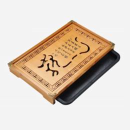 2019 кунг-фу чайный бамбук Продвижение цветок резьба кунг-фу чайный сервиз натурального дерева бамбук чайный поднос прямоугольный традиционный бамбук пуэр чайный столик скидка кунг-фу чайный бамбук