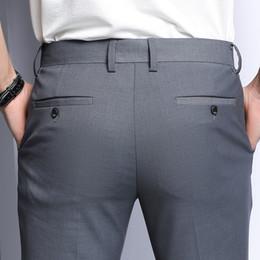 vêtements de travail professionnels Promotion Pantalons pour hommes d'été mince noir Pantalon de ville professionnel Slim Fit Jorg Gris Pantalon décontracté Vêtements de travail Pantalon de travail
