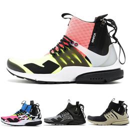 Botas de invierno de descuento para hombres online-nike Descuento acrónimo x Presto  de deporte de diseño medio 2019 nuevos hombres zapatos de calcetín de graffiti de la mejor calidad para mujer negro blanco moda botas INVIERNO
