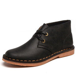 Echtes Leder Herren Chelsea Schuhe Männer Martin Stiefel Mann Retro einfache lässige Loafers Rindsleder Mode Wohnungen für Gentleman zy894 von Fabrikanten