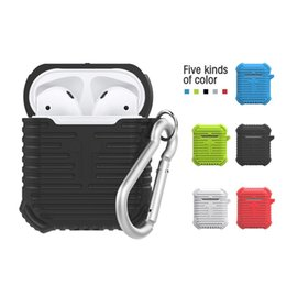 Pour Apple Airpods Etui en silicone Housse de protection Pochette solide pour Bluetooth Casque Casque sans fil pour écouteurs avec mousqueton ? partir de fabricateur