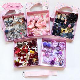 Детский комплект украшений Симпатичная девочка в подарочной коробке с резинкой для волос Зажим для утки Корейская лента оптом от