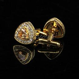 Винтажные запонки онлайн-Lot New Vintage Stainless Steel Golden Silver Round Wedding Gift Mens Cuff Links