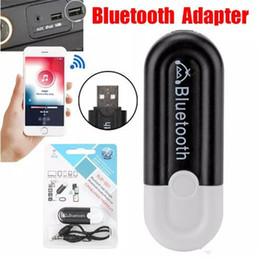 2019 аудио выход приемника bluetooth 2 в 1 3.5 мм и USB Автомобильный комплект Bluetooth приемник двойной выход музыкальный адаптер аудио приемник AUX потокового A2DP комплект с микрофоном розничной коробке дешево аудио выход приемника bluetooth