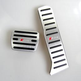 Pedali audi online-No Drill pedale in alluminio Car Gas pedale acceleratore pedale del freno della copertura per Audi A3 (2009-2013) Q3 (2012-2018) TT (2009-2018)