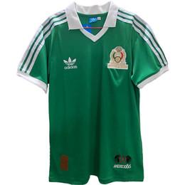 jersey de deutschland Rebajas Retro México 1986/1998 fútbol jerseys Futbol del fútbol del vintage Camisetas clásicas camisas Kit Maillots Maglia Tops