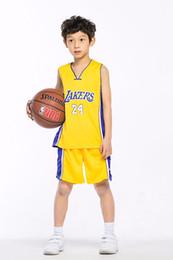2019 basketball gelb trikot 24 24 basketball trikot für jungen gelb lila größe XXS-XXL günstige kinderkorb trikot günstig basketball gelb trikot 24