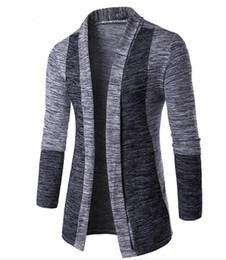 2020 camisola dos homens do crochet Moda Mens Sweater Roupa Nova 2019 afligido Sweater Casual completa Cardigan Men malha Crochet solta e confortável camisola dos homens do crochet barato