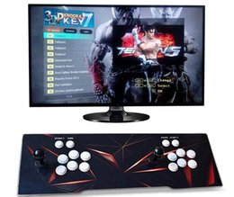Máquinas de video on-line-2019 [2323 3D HD] Pandora 7 3D 1280 * 1080 P 32 GB Arcada Console de Jogos de Vídeo Caixa De Arcade Machine Double Arcade Joystick Com Speaker yx2323