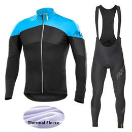 rosso pattino di ciclismo Sconti 2020 bici in pile termico vestiti invernali Ciclismo Maglia MTB vestiti della bicicletta manica lunga da uomo in bicicletta Set MAVIC Ciclismo abbigliamento -JKH7