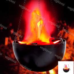 brûler conduit Promotion Décorations d'Halloween 8W Accessoires Rouges Simulation Électronique Brazier Faux Feu Flamme Brûlante LED Lumière Faux Feu Accessoires Faux Brasier 220V DHL