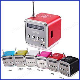 Canada TD-V26 Enceinte sans fil Metal TF Card / U Disk Mini haut-parleur portable Audio sans fil Universal type DHL Free Ship Offre