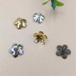 2019 fiore per gioielli 100 pz 8mm moda metallo rame fiore bead caps connettore oro argento antico bronzo placcato fascino per fare gioielli fiore per gioielli economici