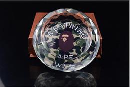 Tie Brand Sup Mmj Ape Posacenere Luxury Skull Stampa Posacenere in cristallo Portable Morbido Moda Eco-Anti-Giarrettiera Rubber Multi Stili rotondi da