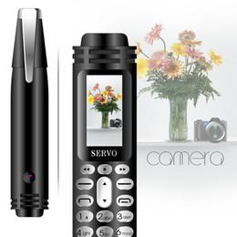 """Celular sim único on-line-SERVO K07 Gravação Pen Mini Celular 0.96 """"Tiny Screen GSM Dual SIM Câmera Lanterna Bluetooth Dialer Telefones Celulares"""