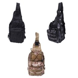 Sac à bandoulière d'assaut tactique en Ligne-Mens Molle Tactical Sling Poitrine Sac Assaut Pack Messenger Sac à bandoulière Sac à dos