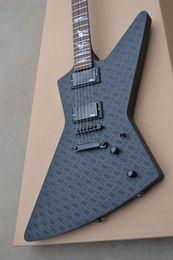 Подпись гитарных звукоснимателей онлайн-Металлическая гитара Black Explorer Джеймс Хэтфилд JH2 Signature Модель Электрогитара Черные пикапы Гитары