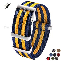 blue nato strap Coupons - New 20 22mm Men Women Nylon High Quality Stainless Steel Buckle Watchband for Brand Watch Sport Army Watch Nato Zulu Strap Blue
