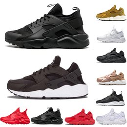2020 graue huraches Nike Air Huarache Herrenschuhe Triple Black Weiß Cool Gray Huraches Utility-Run Sports Turnschuhe yecheil Damen Sneaker Trainer Max Größe 36-45 günstig graue huraches